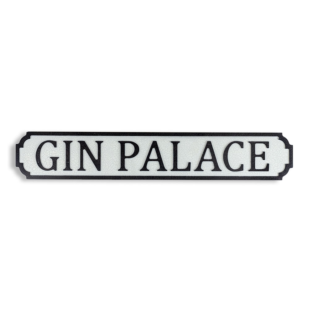 Antique Wood Gin Palace Sign