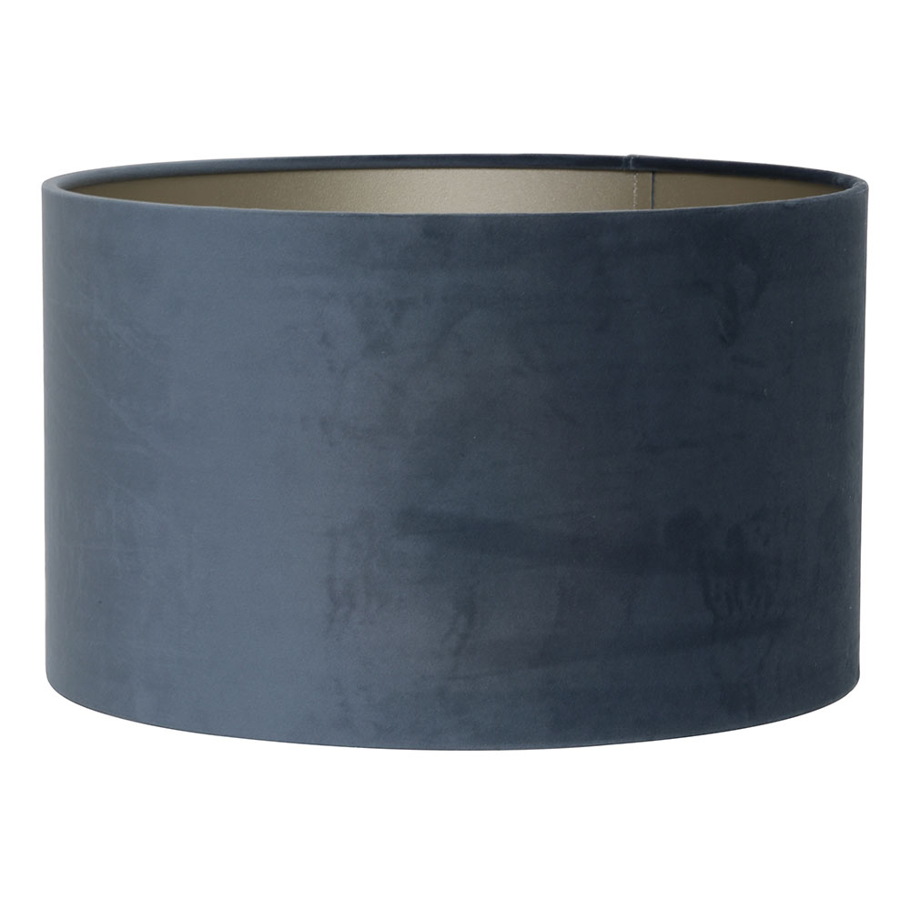 Velours Dusty Blue Cylinder Lampshade