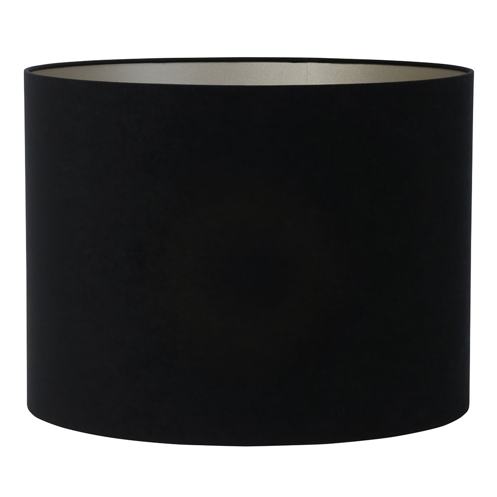 Large Black Cylinder Lampshade