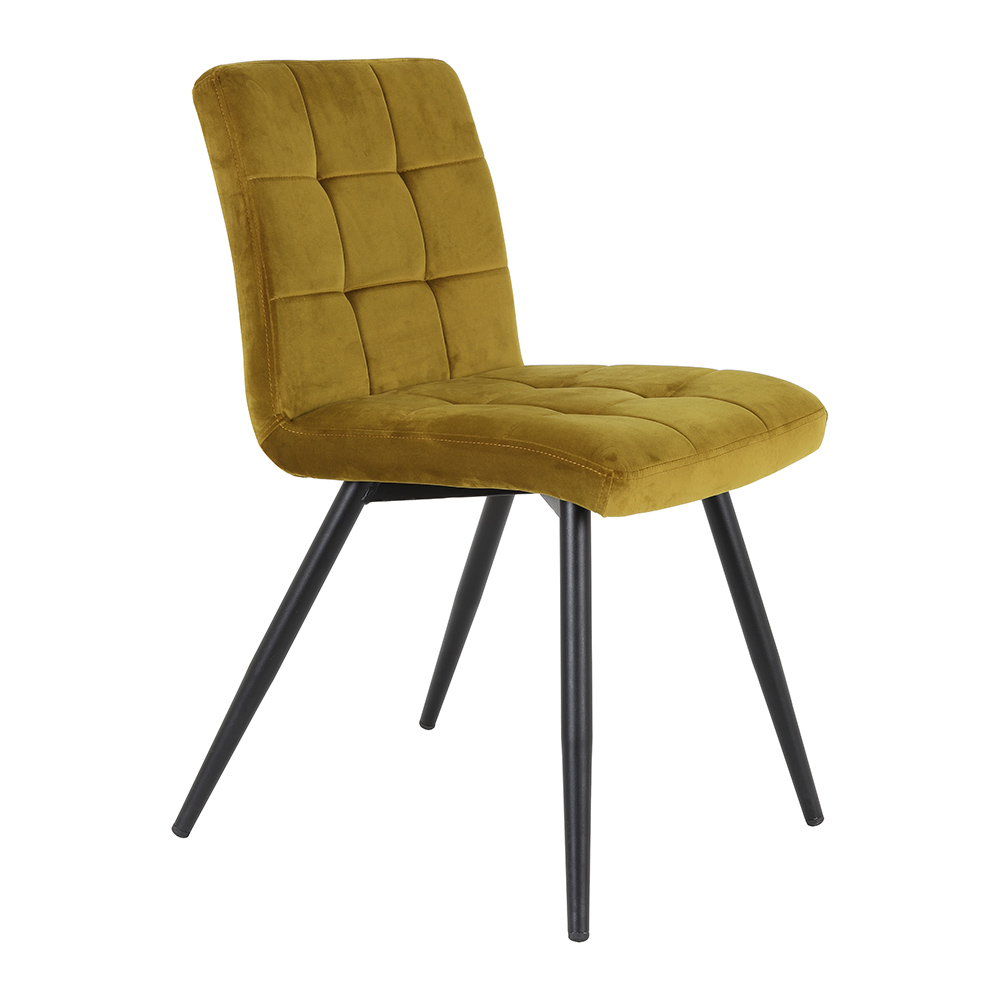 Olive Velvet Ocher Dining Chair