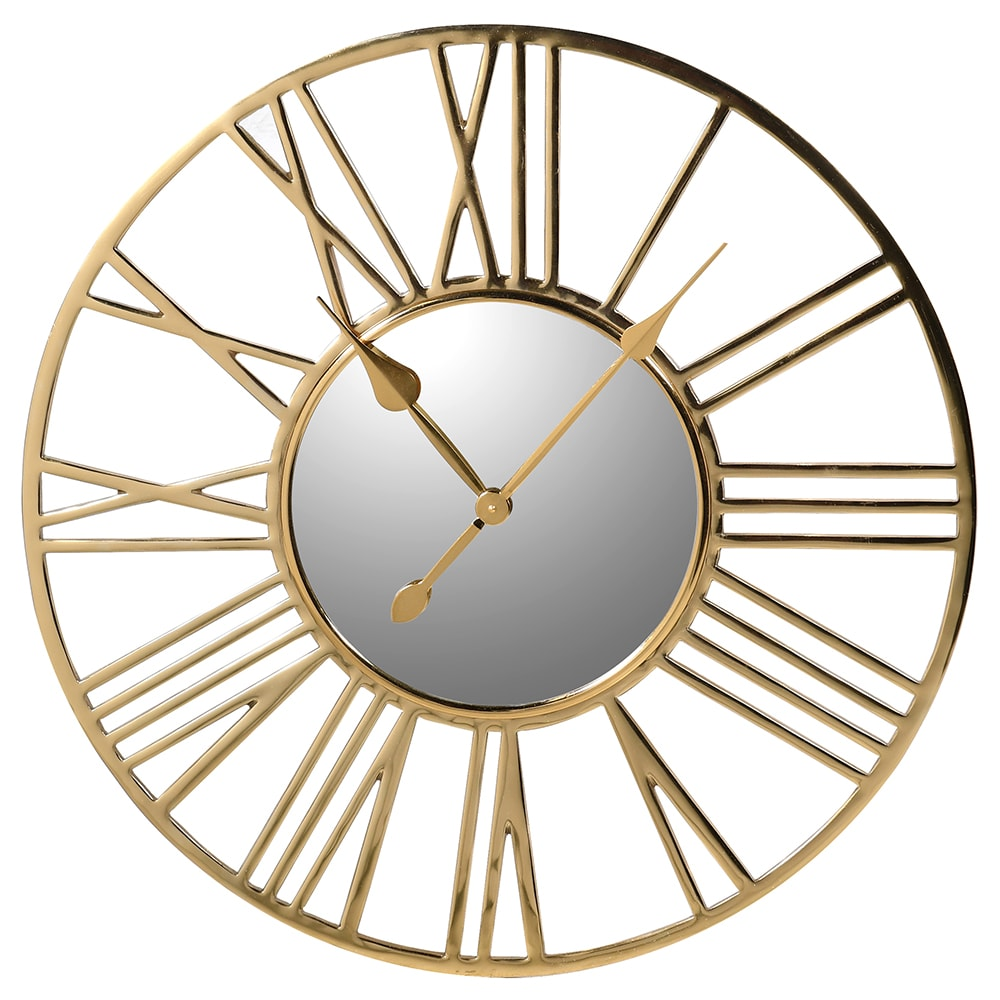 Small Gold Numeral Wall Clock