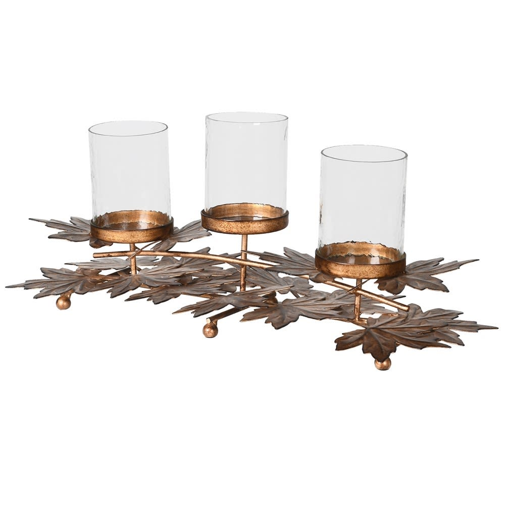 Maple Leaf 3 Candle Holder