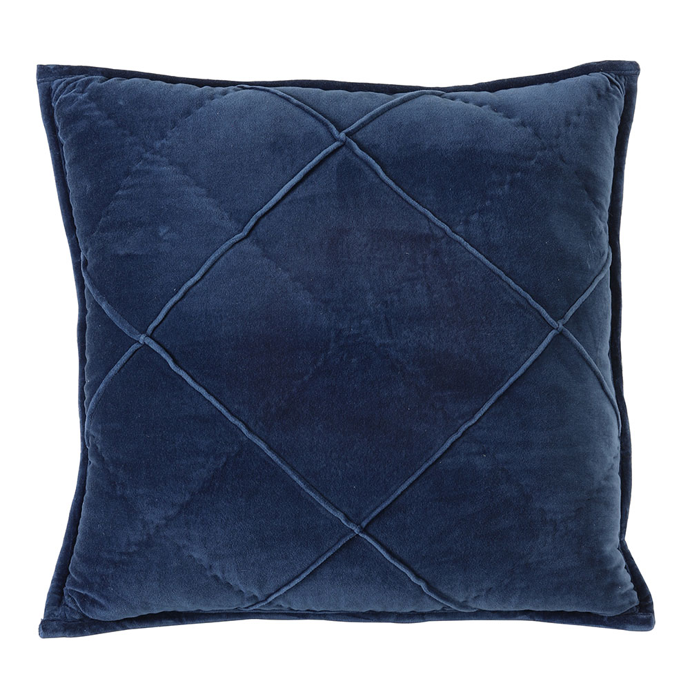 Diamond Velvet Blue Cushion