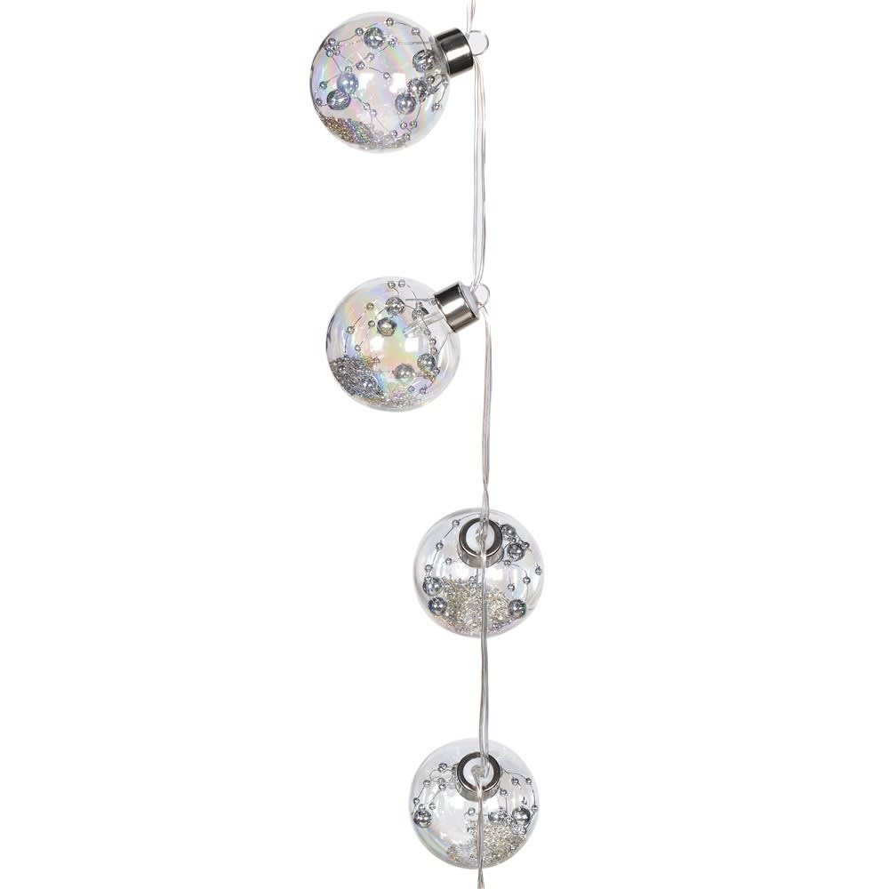 Bauble Lights with Silver Beads