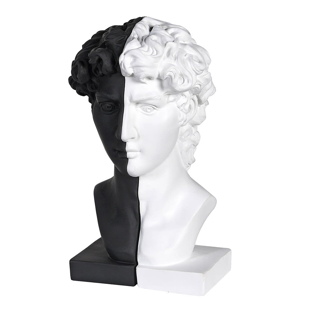 Black & White Male Bust Bookends