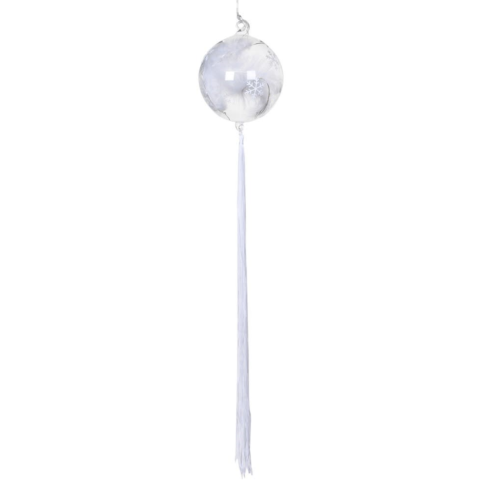 Small Bauble Light with Feather and Tassel