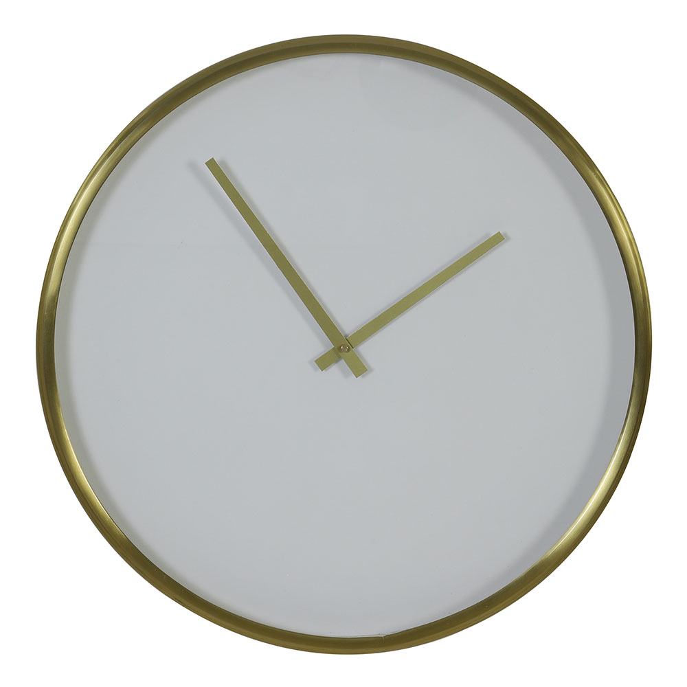 Seponi White/Matt Bronze Clock