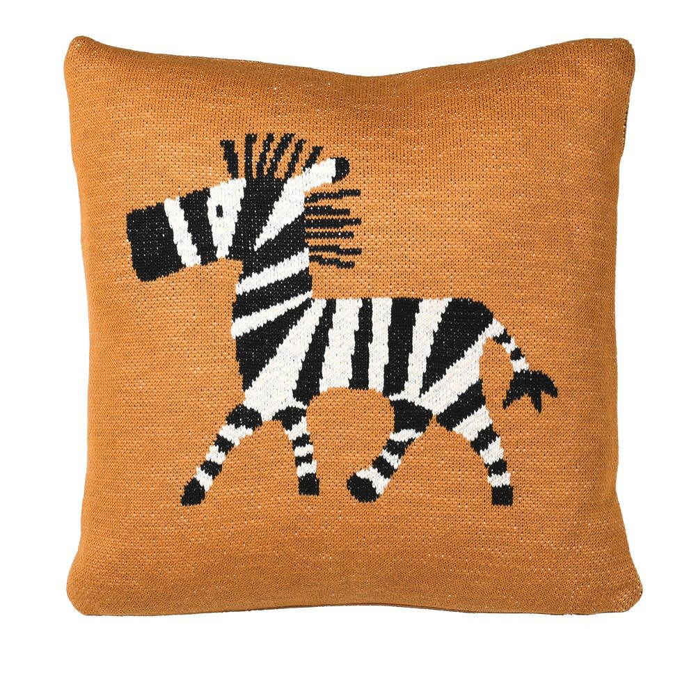 Mustard Zebra Cushion