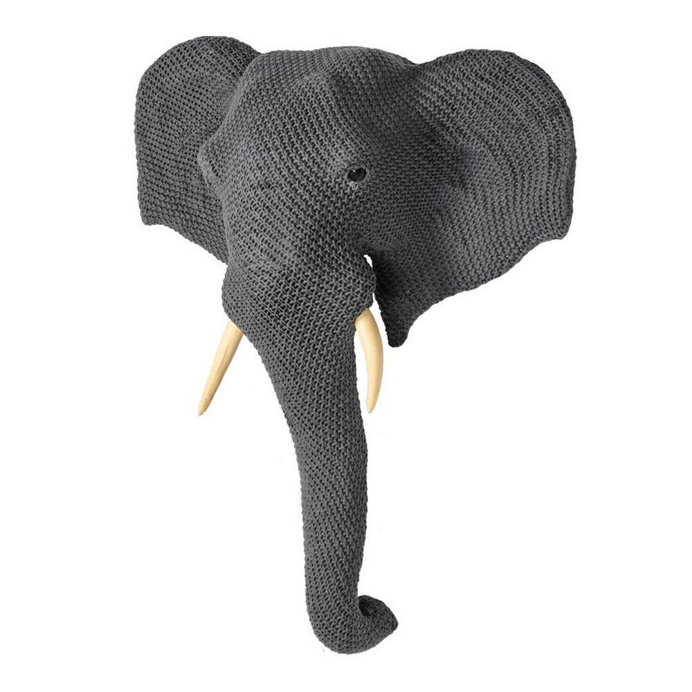 Large Knitted Elephant Head