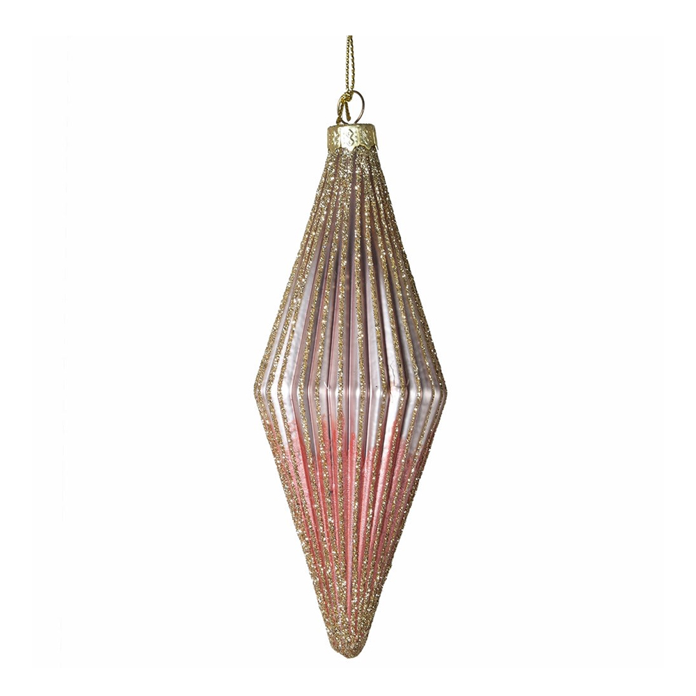 Pink Ribbed Bauble