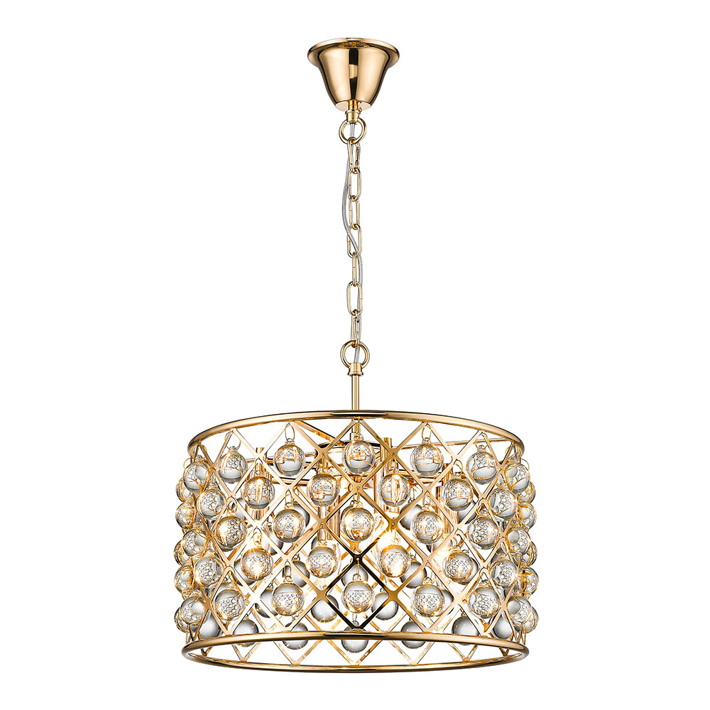 Gold Brent Cross Pendant