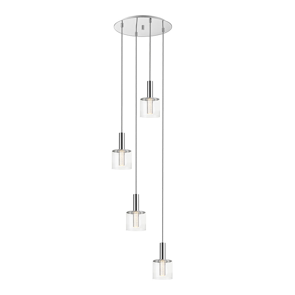 Chrome Evita Decorative Pendant