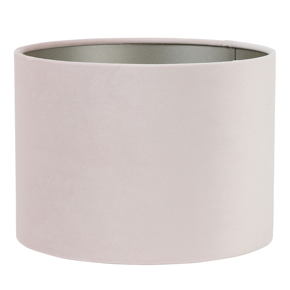 Velours Light Pink Cylinder Shade
