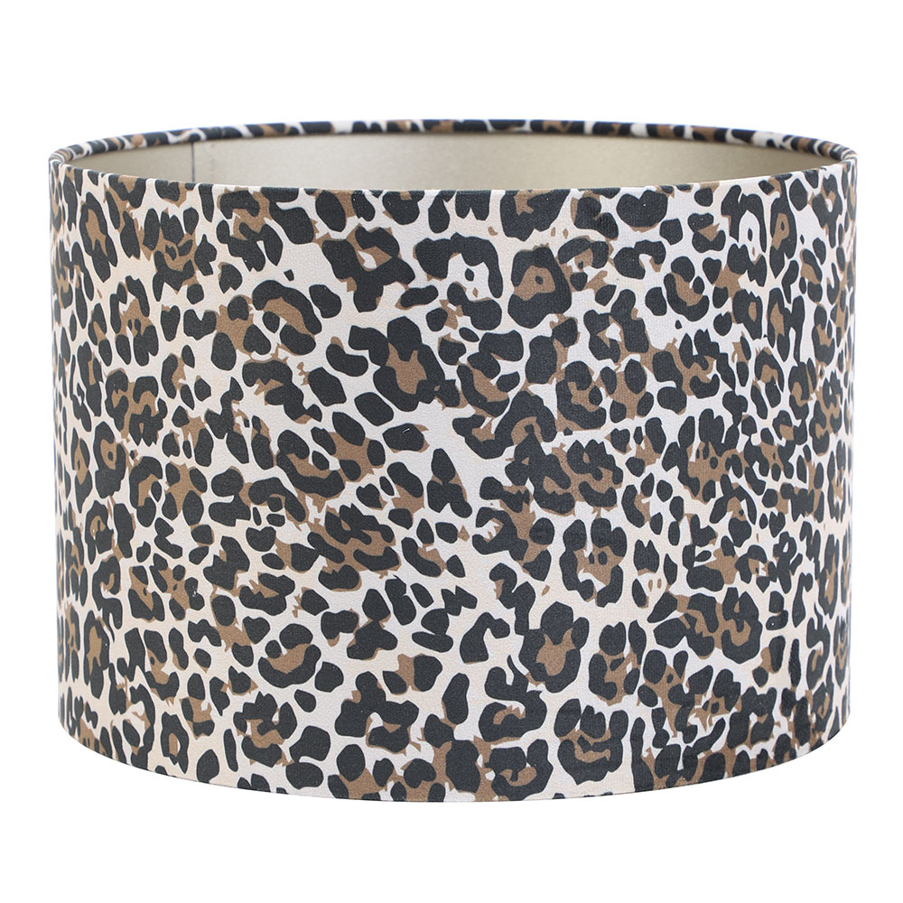Leopard Cylinder Brown Lampshade
