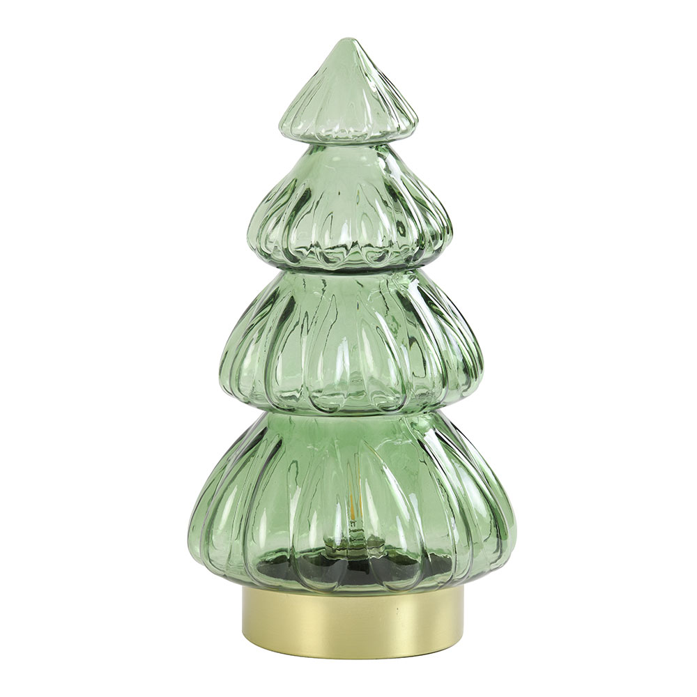 Olive Green LED Tree Table Lamp