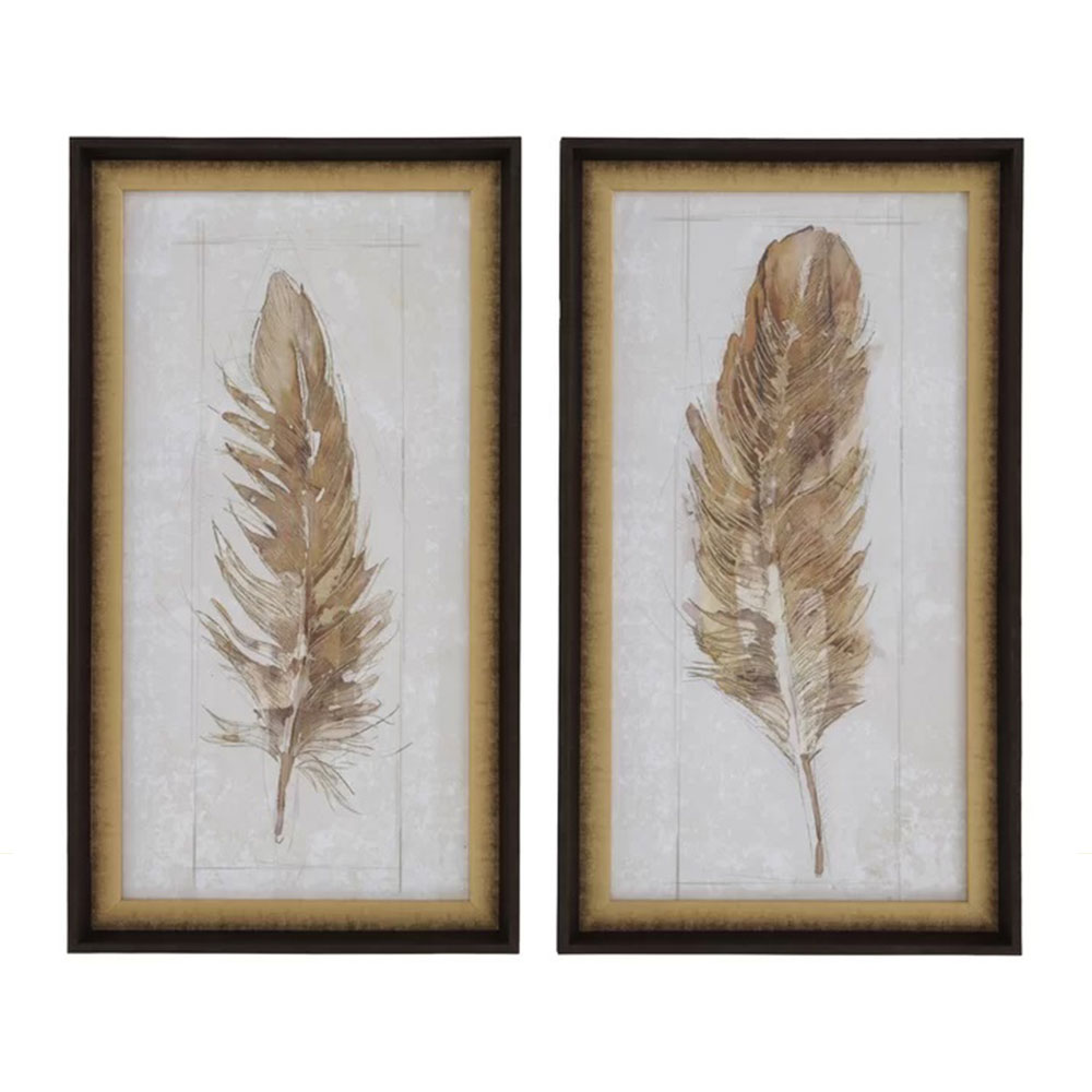 Natural Feather set of 2
