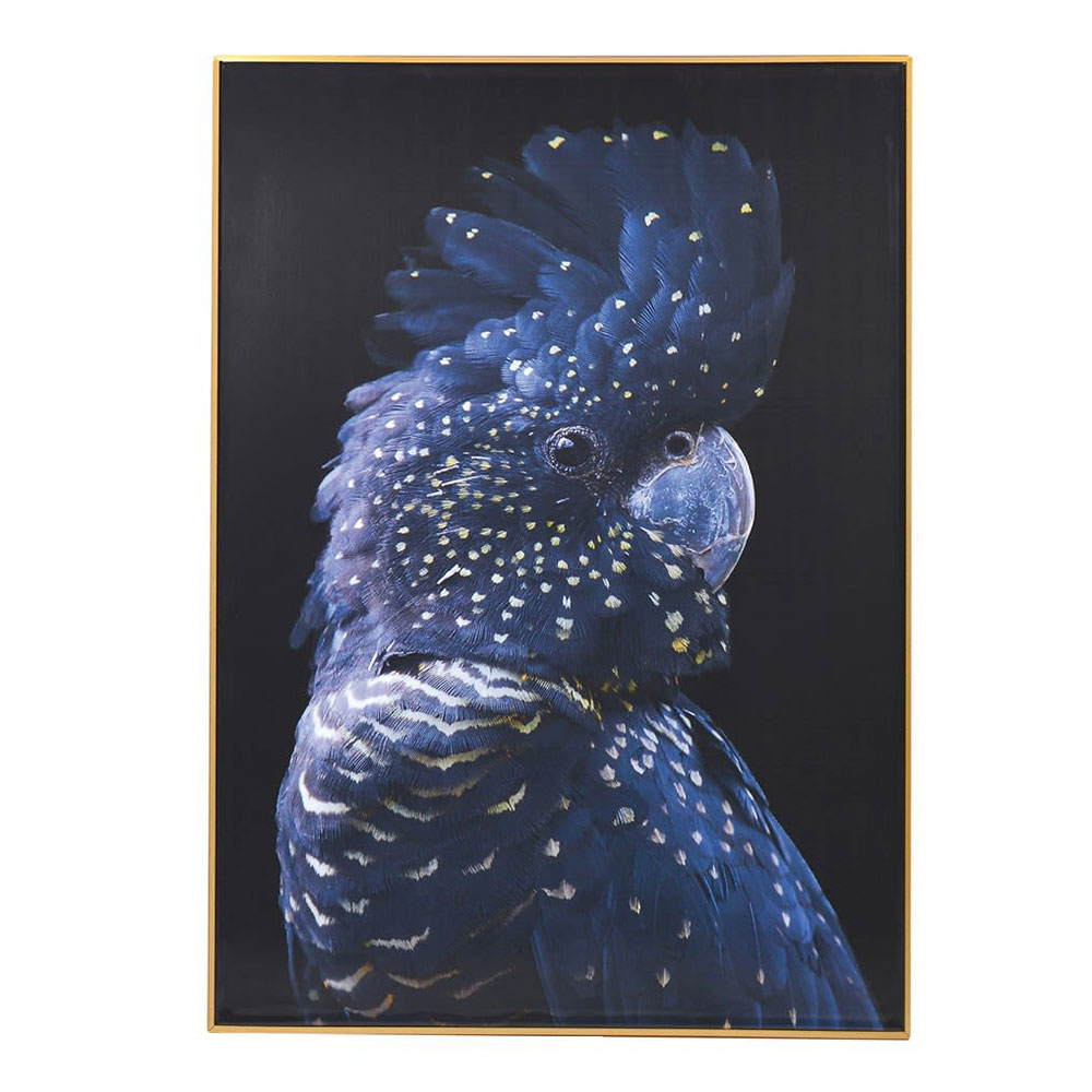 Framed Blue Parrot Picture