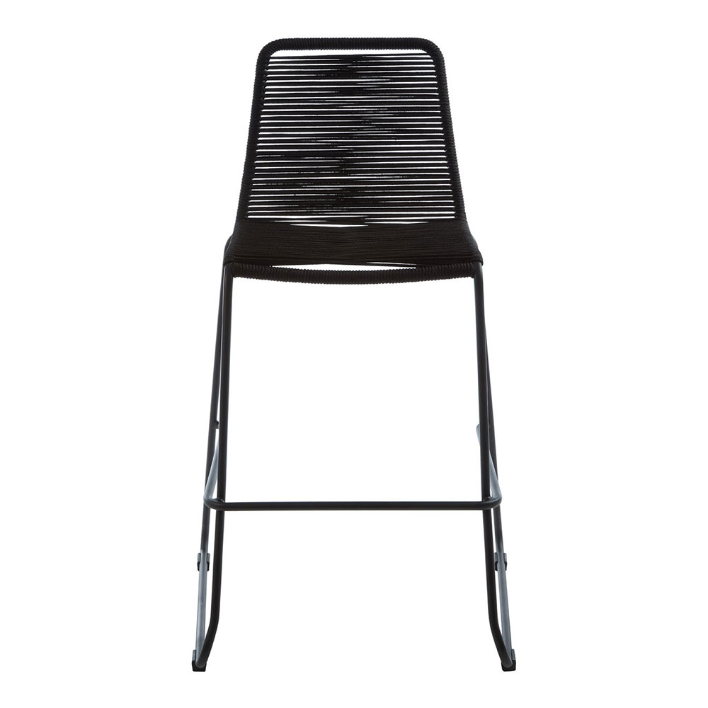 Sisal Black Rope Bar Chair