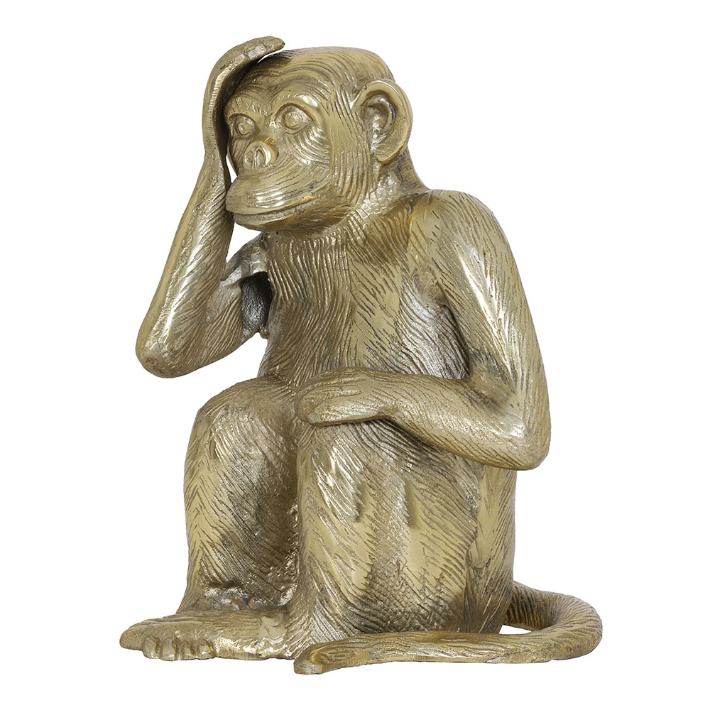 Antique Bronze Monkey Ornament