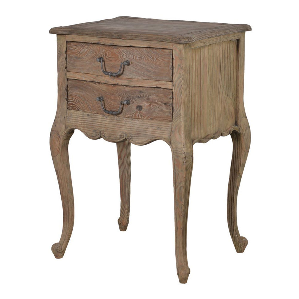 Colonial 2 Drawer Bedside Table