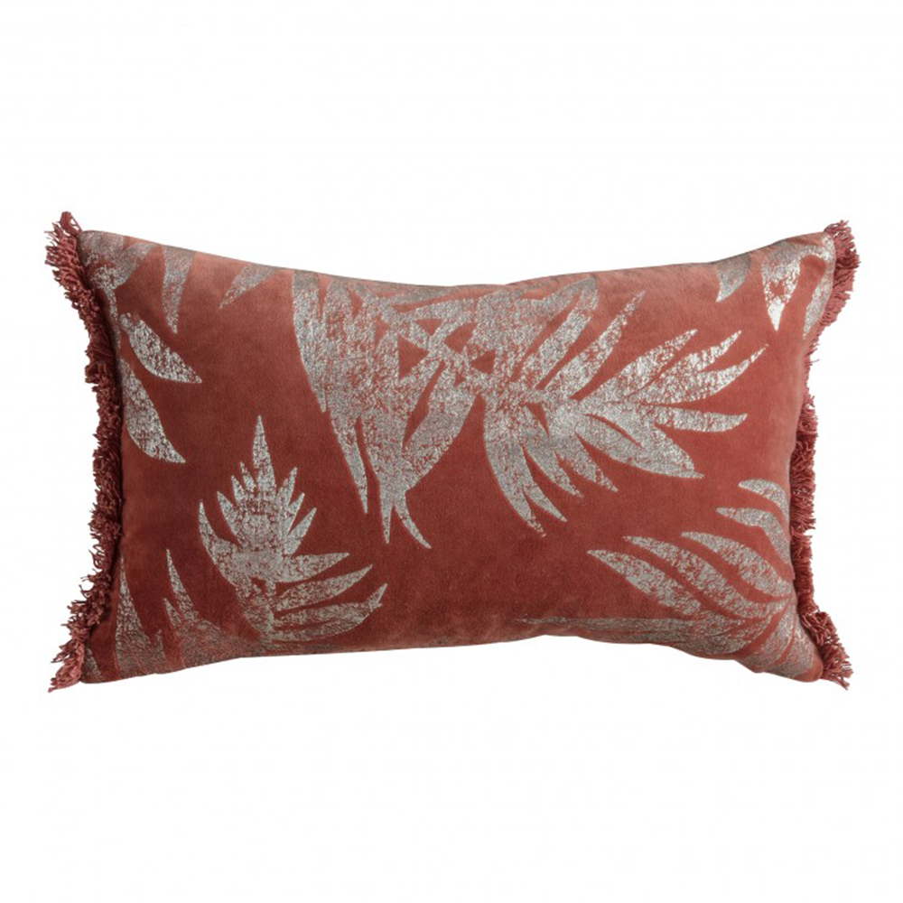 Terracotta Velvet Metallic Cushion