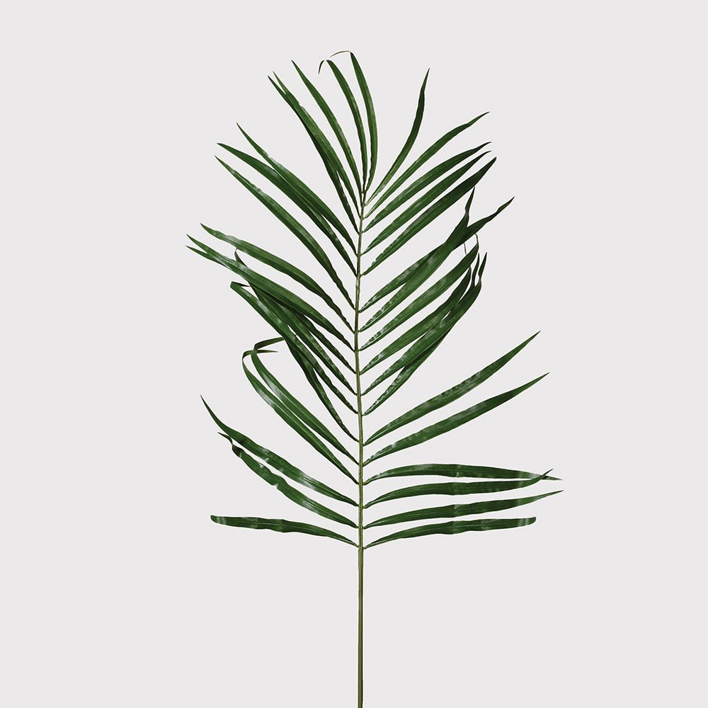 Faux Green Areca Palm Leaf