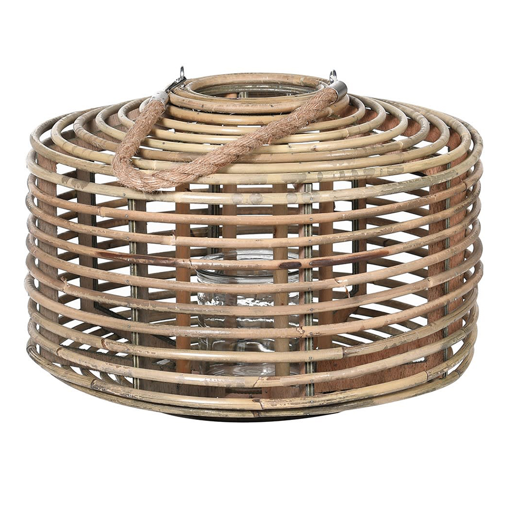 Rattan Candle Holder with Rope