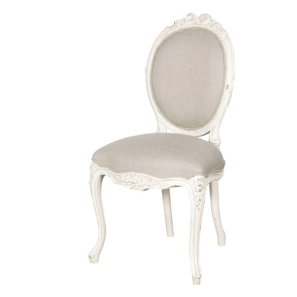 Chateau Ribbon Linen Upholstered Dining Chair