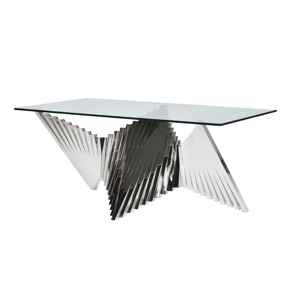 Stainless Steel Abstract Dining Table