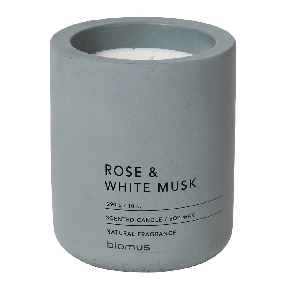 Rose & White Musk Scented Candle