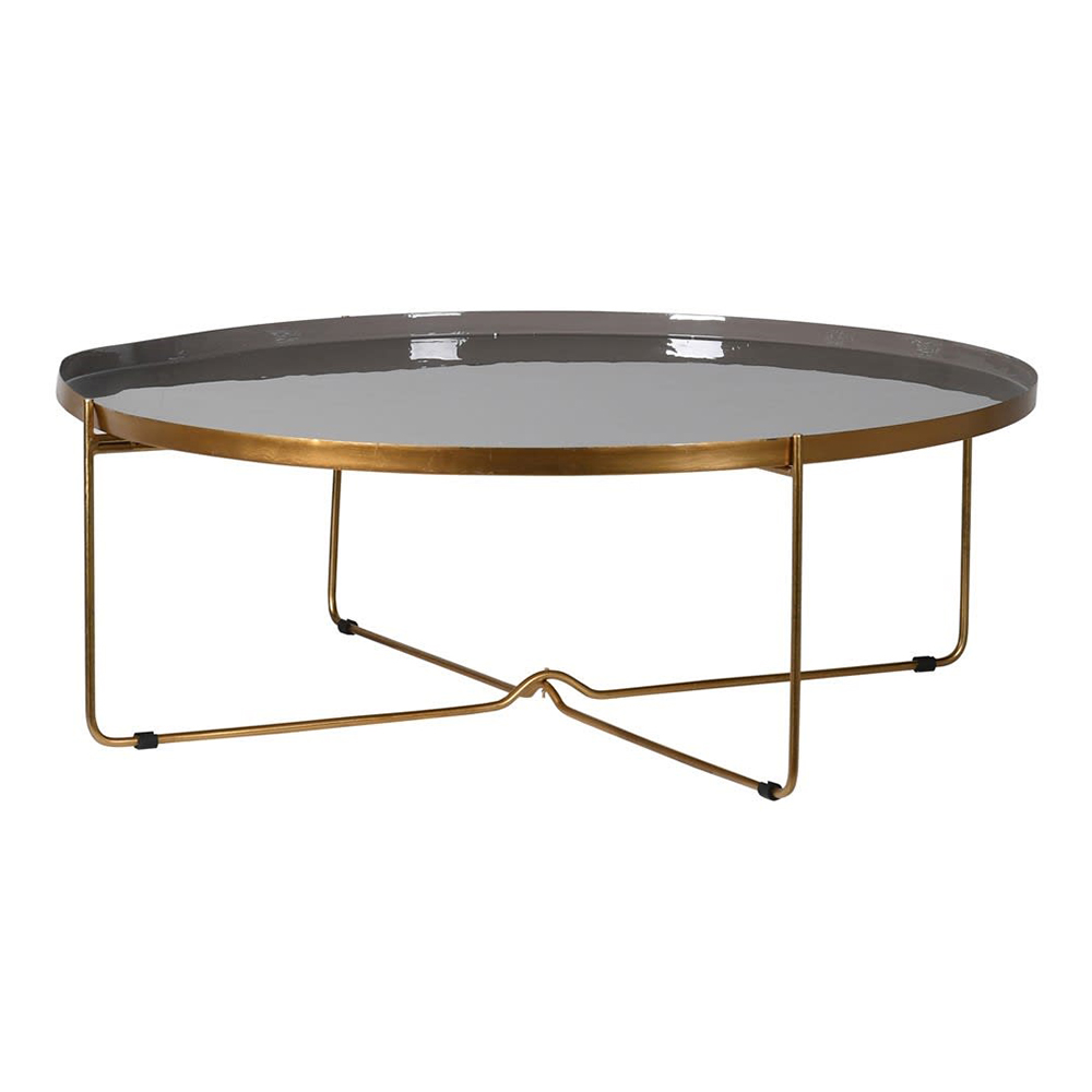Taupe & Gold Enamel Table