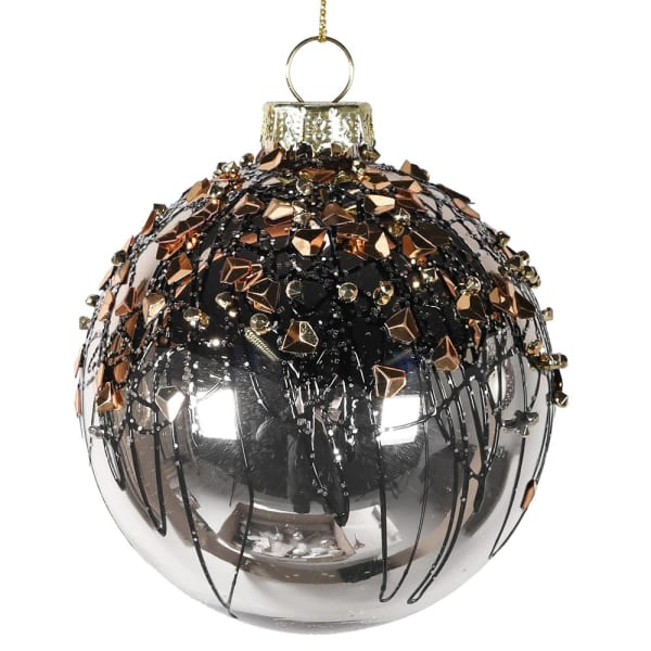 Gold Bauble with Clusters